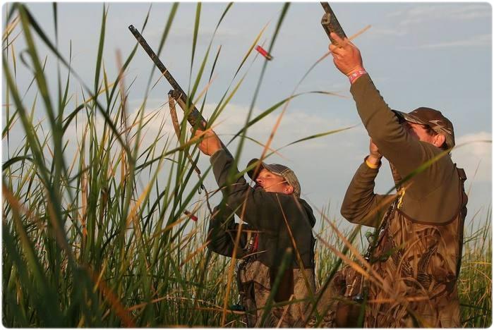 Утиная охота на перелетах