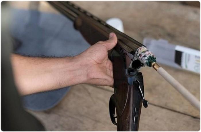 Чистка ствола ружья