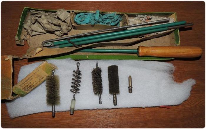 Принадлежности для чистки охотничьего ружья