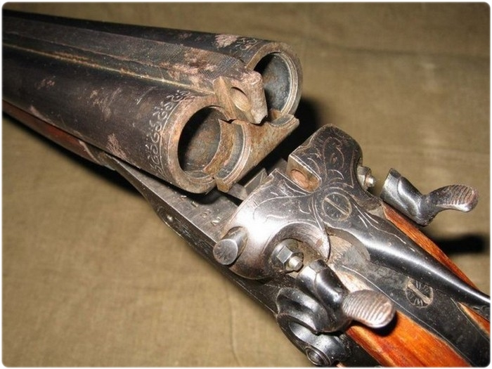 Ржавчины на охотничьем ружье